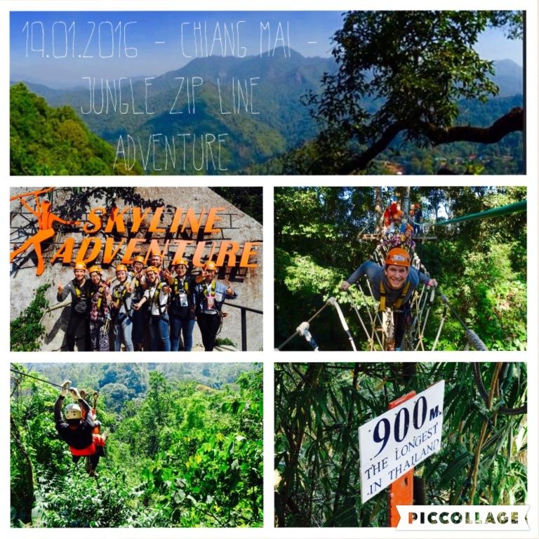 Zip Lining im Urwald von Chiang Mai