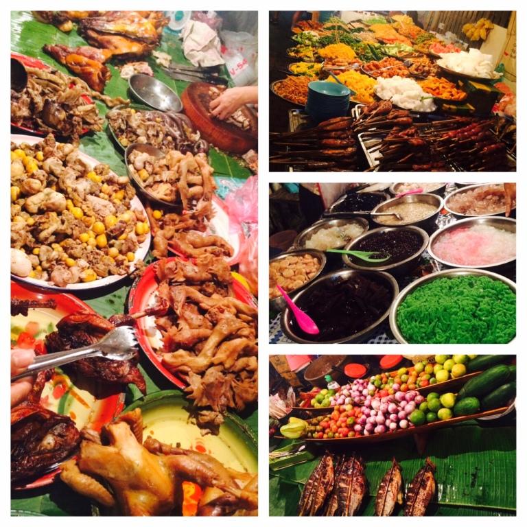 All-you-can-eat Buffet auf dem Markt