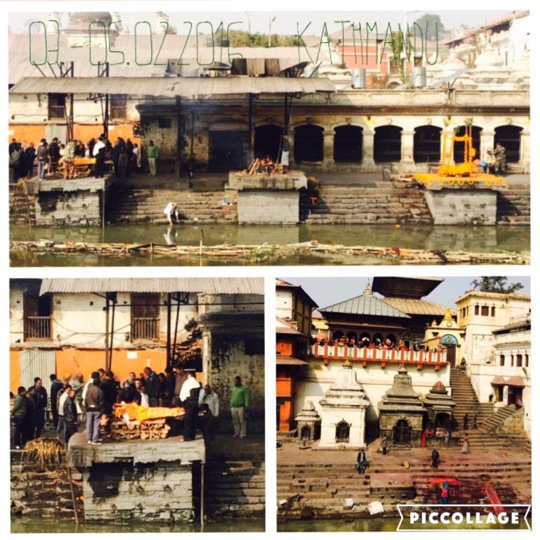 Open-air crematorium in Kathmandu