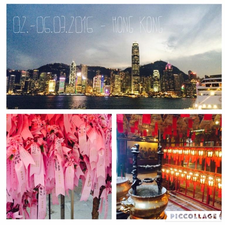 Hong Kong skyline and Tao Tempel