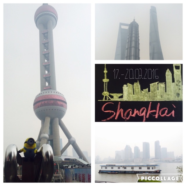 Oriental Pearl Tower and Shanghai Tower (632 meters 2nd highest building in the world)