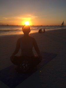 Sunset yoga - that's how sport's fun!