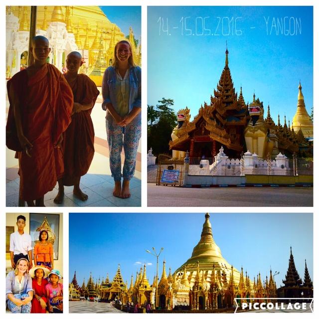 Photoshooting mit den Mönchen an der großartigen Stupa