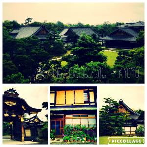Traditionelle Holzhäuser und Tempel