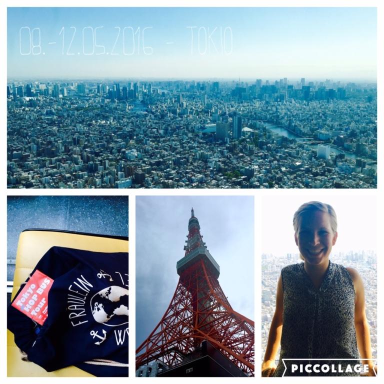 Panorama vom Tokyo Sky Tree und Tokyo Tower (in der Mitte)