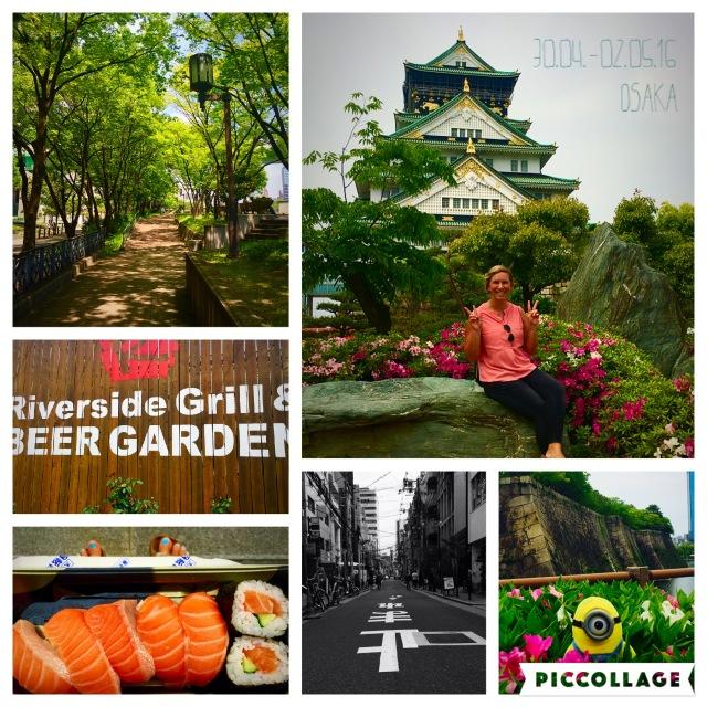 Ein toller Tag in Osaka - japanische Burgen anschauen und Sushi schlemmen