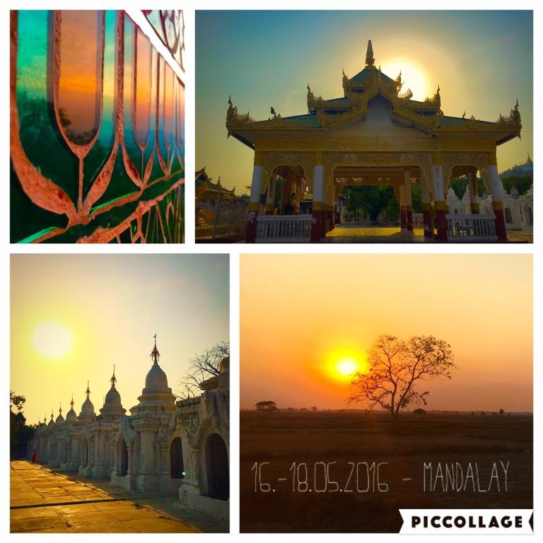 Amazing sunsets in Mandalay