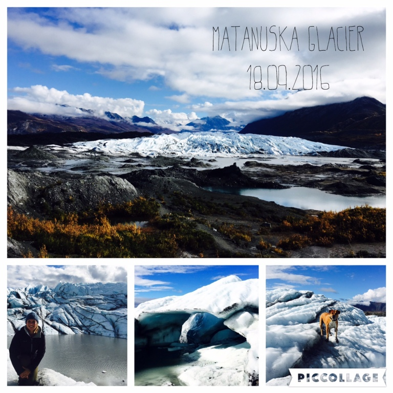 My last glacier hike - in jogger pants and Nike sneakers