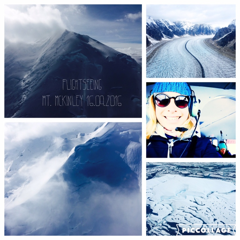 Co-pilot at glacier sightseeing