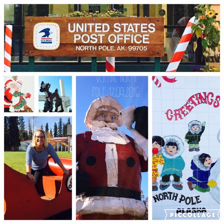 Visiting Santa Claus at North Pole