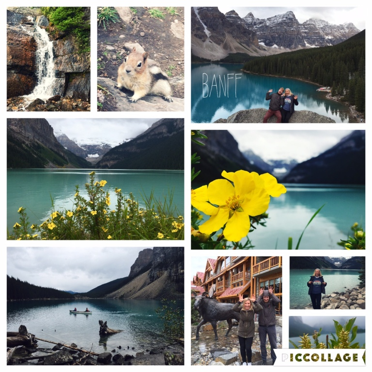 Stunning panormic views at Lake Moraine, Lake Louise and Banff National Park