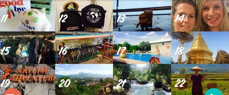 Januar - Los gehts in Thailand und Laos