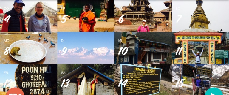 February - hiking in Nepal, Singapore&Malaysia