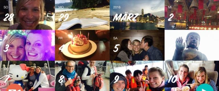 März - mein Geburtstag in Hong Kong & China