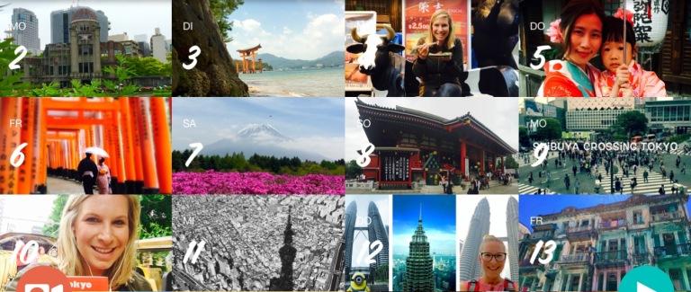Mai - Japan, Malaysia und Burma