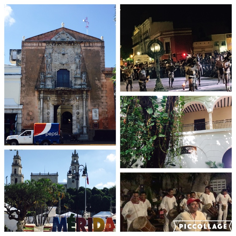 Kolonialarchitektur und Maya Fussball