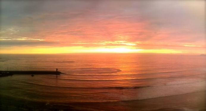 Amazing sunset in Lima