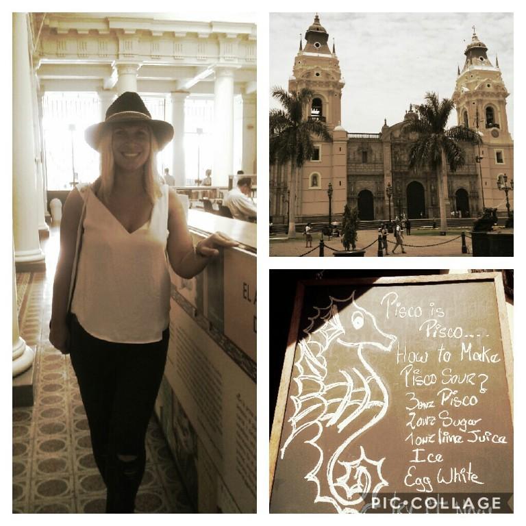Altstadt von Lima & originales Pisco Sour Rezept - mit Eiweiß